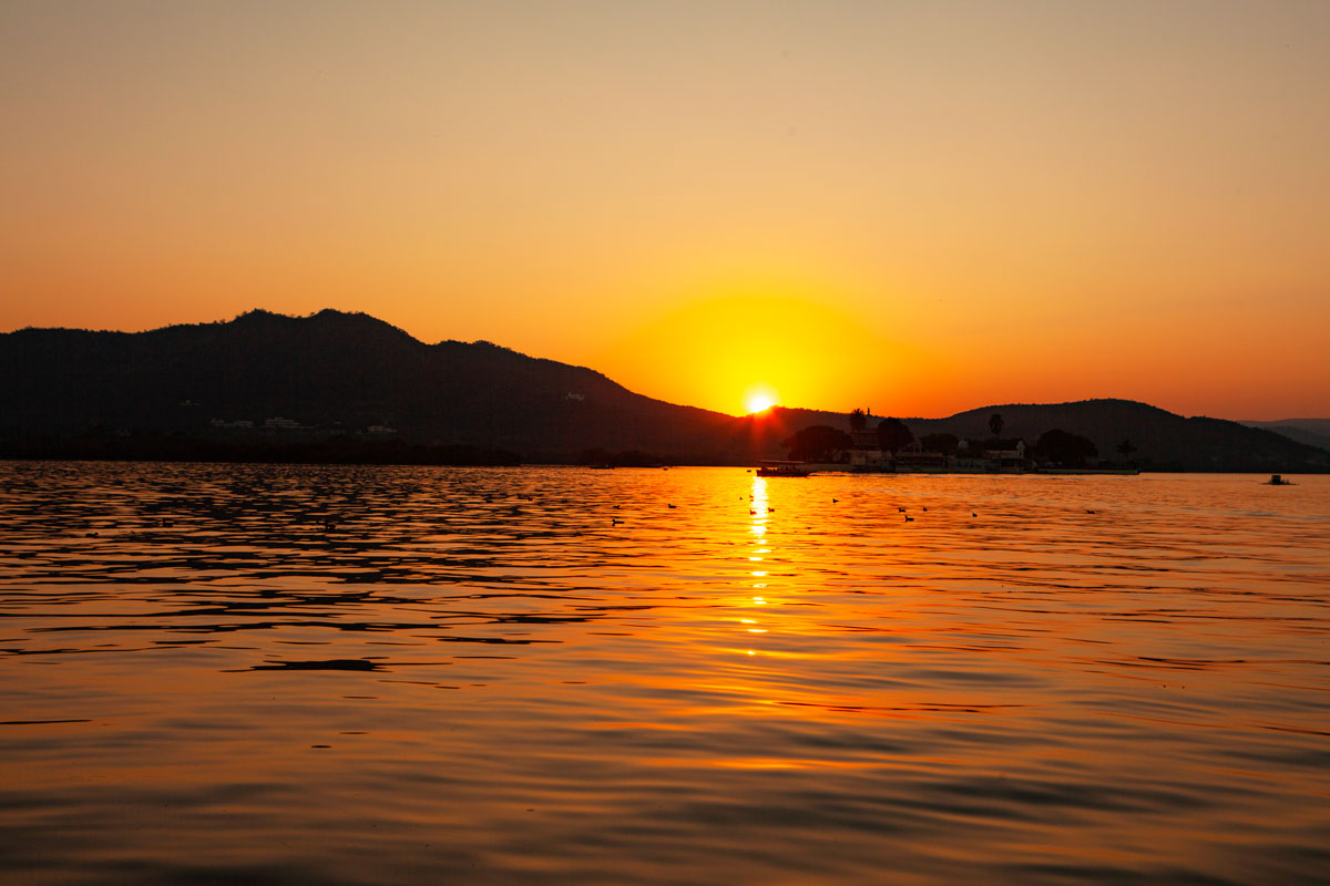 Udaipur sun set